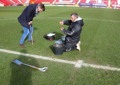 checking grass status, Stadium-web